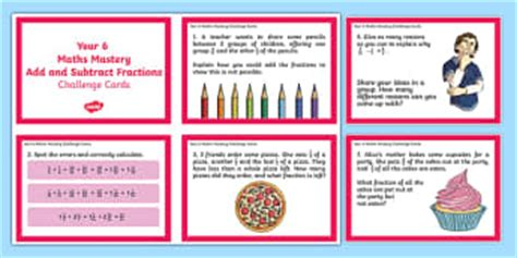 year 6 maths challenge cards year 6 fractions decimals and percentages primary page 1