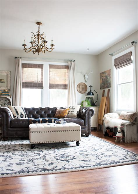 Cozi Furniture living room redo with a new leather sofa