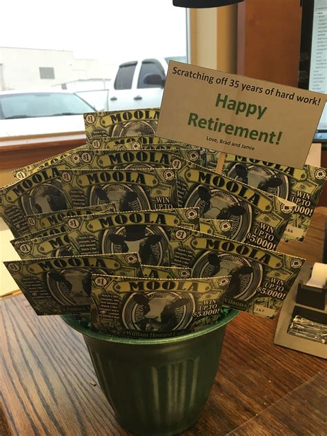 scratch ticket retirement gift i made ideas retirement gifts retirement gifts