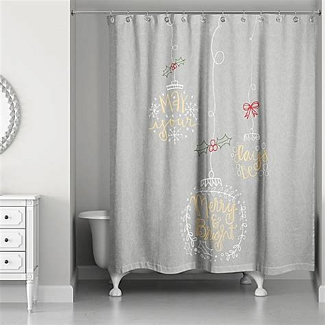 gold and gray curtains merry and bright shower curtain in grey gold bed bath