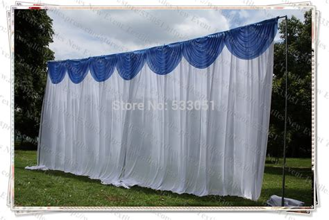 backdrop drapes free shipping 3x6m white color backdrop curtains with blue