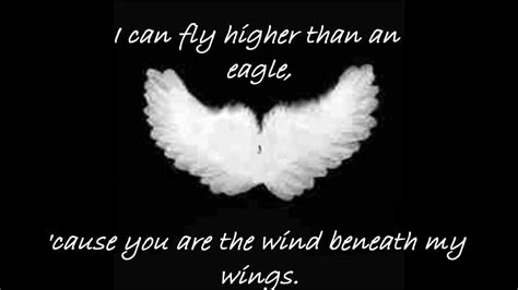 bette midler lyrics bette midler wind beneath my wings with lyrics