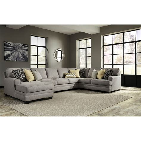 benchcraft sectional benchcraft cresson contemporary 4 piece sectional with