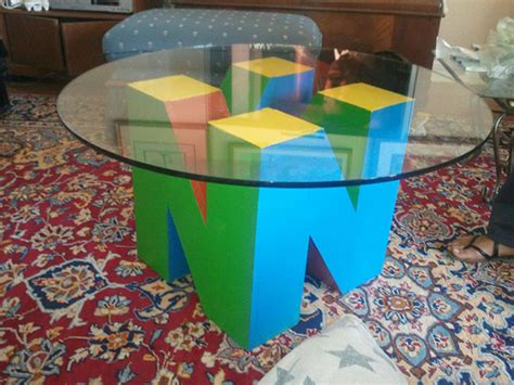 n64 room nintendo 64 coffee table needs matching 64dd shelf technabob
