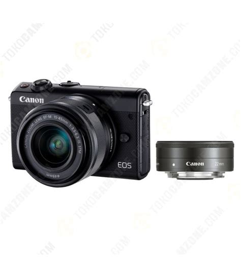 Canon Eos M100 Kit 15 45mm Is Stm Putih White canon eos m100 kit 15 45mm f 3 5 6 3 is stm 22mm f 2 0 stm