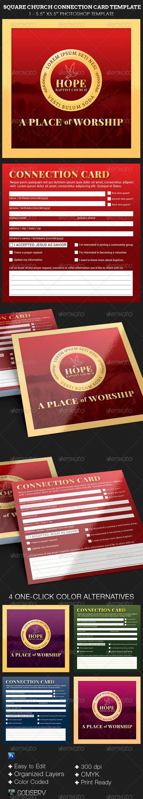 simple church connection card word template 17 images about church flyers on flyer
