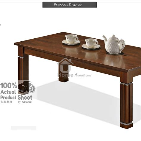 uhome solid wood coffee table 11street malaysia