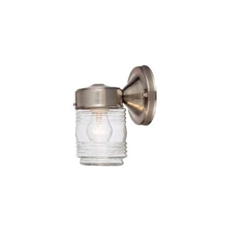 Jelly Jar Light Fixtures Buy The Hardware House 544692 Outdoor Light Fixture Jelly Jar Satin Nickel Hardware World