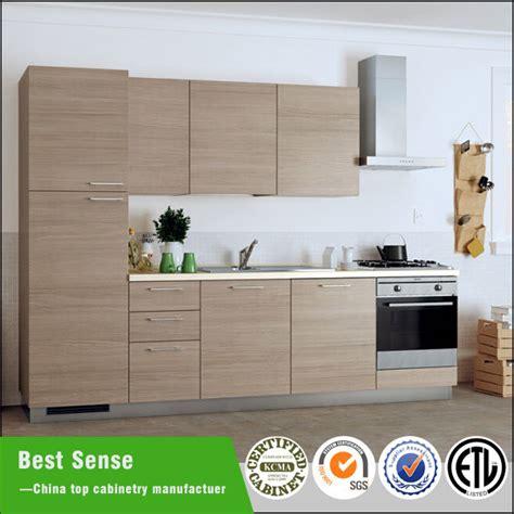 Wood Grain Laminate Kitchen Cabinets China Wood Grain Melamine Finish Laminate Mfc Kitchen Furniture China Laminate Kitchen