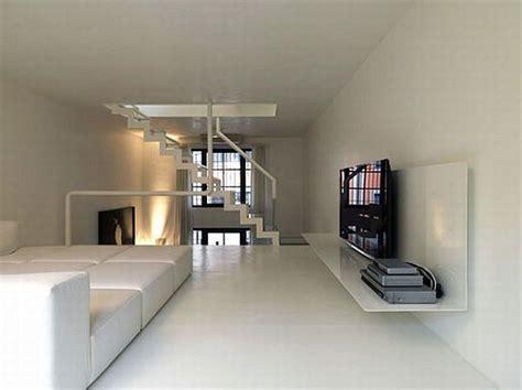 minimalist loft   strong contrast  dark  white