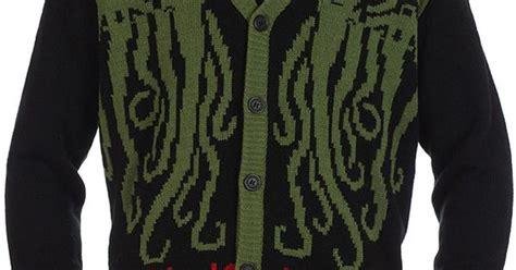 Cardigan Middle Line Black cthulhu lovecraft cardigan the o jays cardigans and