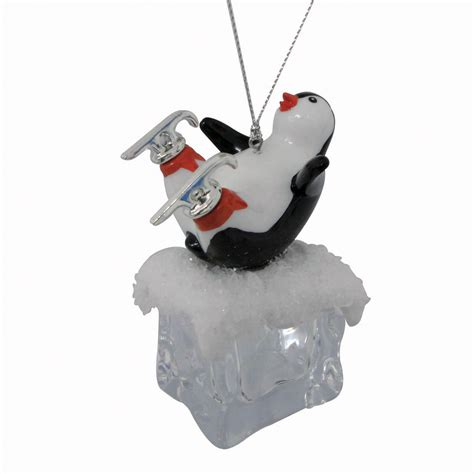 ice cube christmas tree trim a home 174 penguin cube acrylic ornament seasonal tree ornamentation