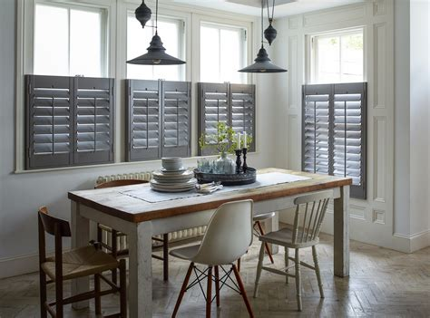 kitchen window shutters interior tips for successful shutters in your kitchen diner