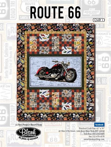 Route 66 Quilt Pattern by Route 66 Quilt Kit