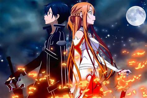 sword art  sao kirito asuna anime poster  hot