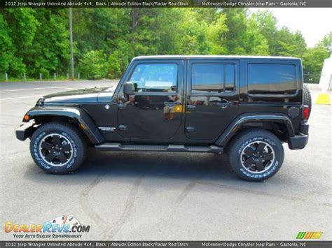 Jeep Unlimited Altitude Black 2012 Jeep Wrangler Unlimited Altitude 4x4 Photo 3