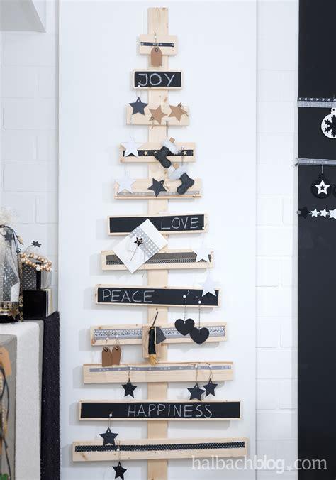 alternative weihnachtsbaum ideen i holzlatten i black