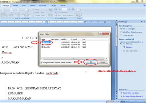 tutorial membuat template label undangan di word 2007 membuat nama undangan di ms word cara membuat mail merge