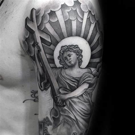 angel holding cross tattoo 90 chicano tattoos for cultural ink design ideas