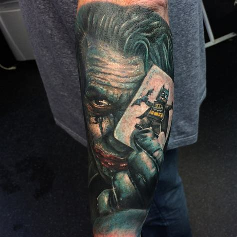 batman and joker tattoo joker batman card best ideas gallery