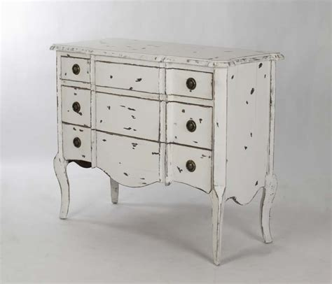 chic shabby french style distressed white elm wood chest dresser from marcia treasures