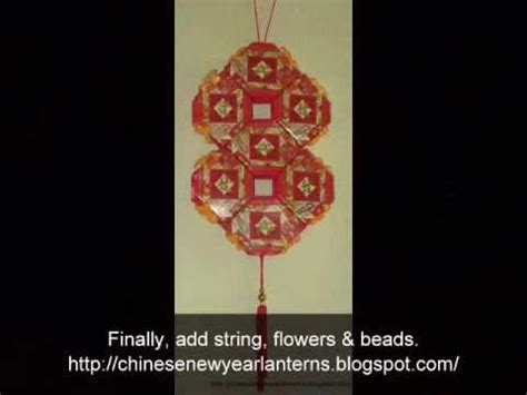 new year lantern using packets how to make a new year lantern the lucky 8 using