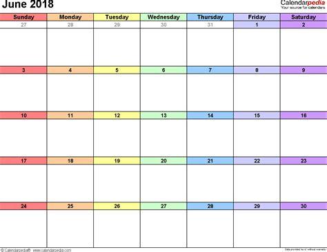 june 2018 calendar page 2018 printable calendar