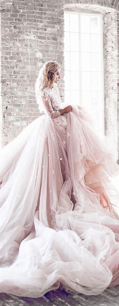 Big Wedding Dresses by The 25 Best Pink Wedding Dresses Ideas On