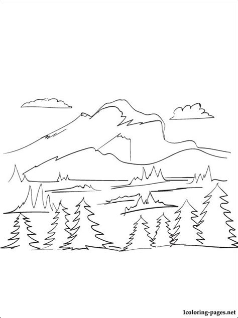 snow on mountain coloring page coloring pages