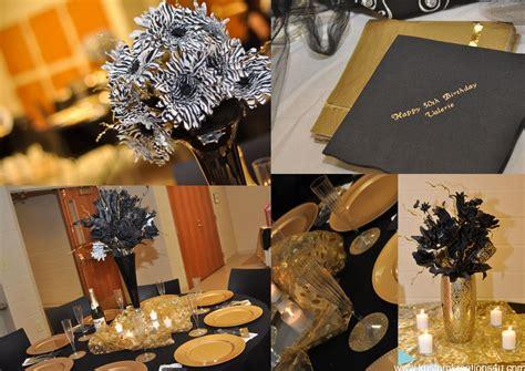 Black And Gold Birthday Decorations by Black Gold 20 S Theme 50th Birthday Celebration Kustom