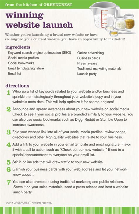 Marketing Recipe For A Winning Website Launch Greencrest New Website Launch Email Template