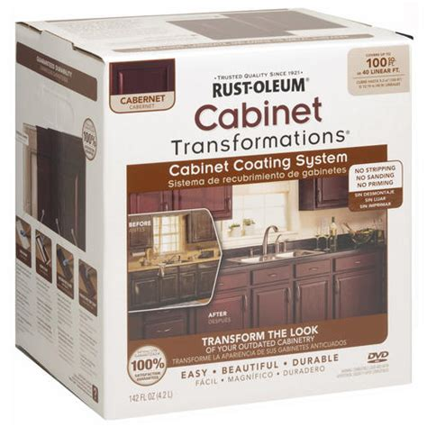 rust oleum 174 cabinet transformations small cabernet coating