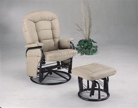 Swivel Glider Recliner With Ottoman Bone Leatherette Deluxe Swivel Glider Recliner W Ottoman