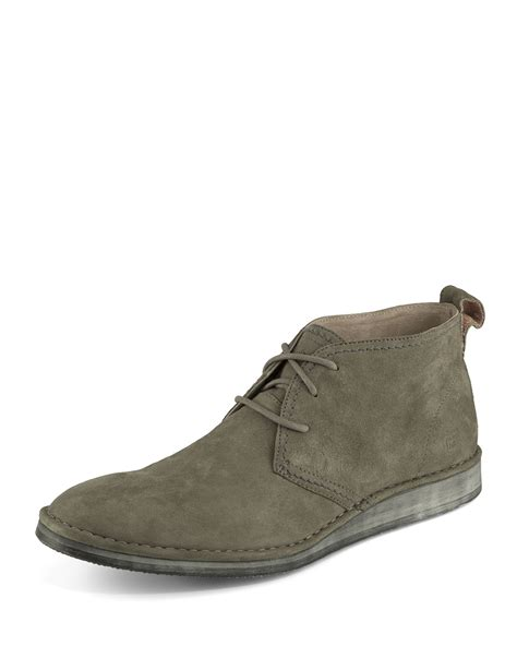 andrew marc parkchester suede chukka boot in gray for
