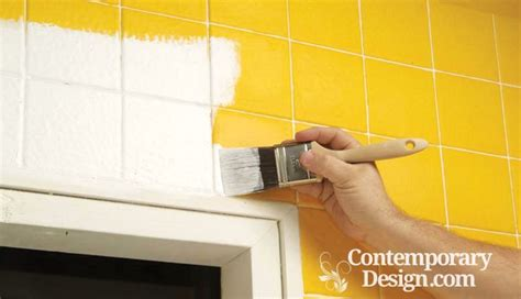 how to paint ceramic tile in a bathroom painting over bathroom tiles