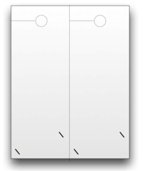 Blank Door Hangers Custom Print Doorhangers Com Business Card Slits Template