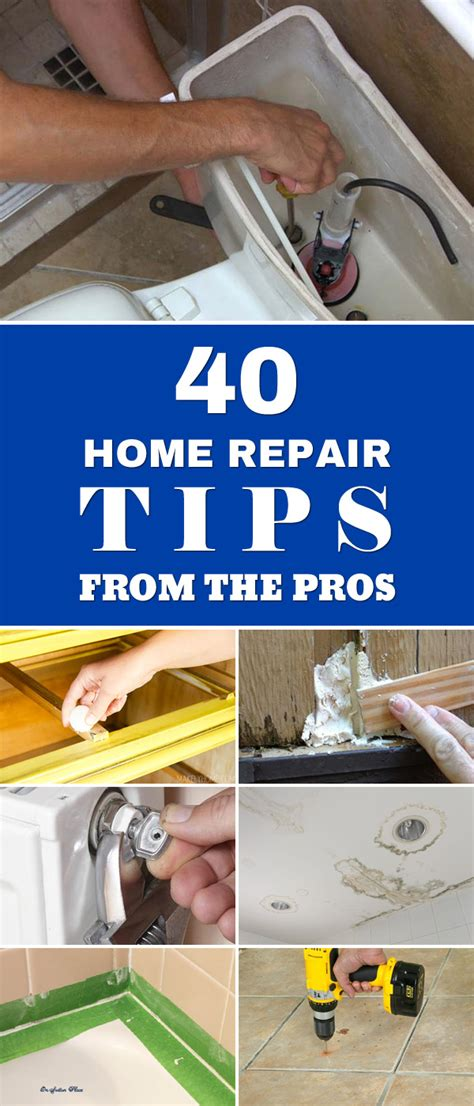 40 home repair tips from the pros