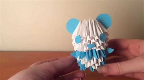 How To Make A 3d Origami Panda - 3d origami panda tutorial