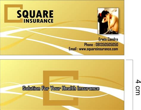 contoh kartu nama desain interior kreatif studio contoh desain kartu nama asuransi
