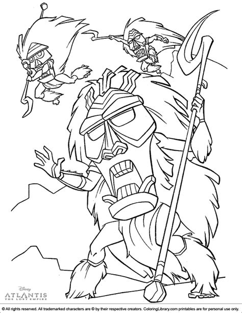 coloring book lost atlantis the lost empire coloring picture