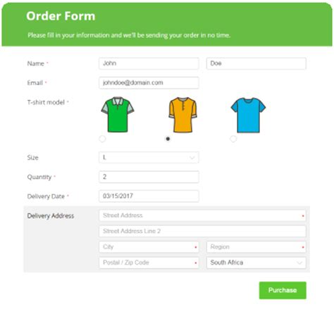 design form online free create online order forms that really sell 123contactform