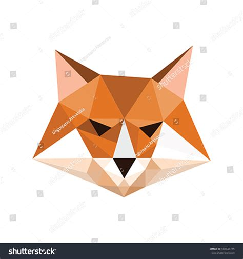 Origami Symbol For - illustration origami fox portrait symbol stock vector