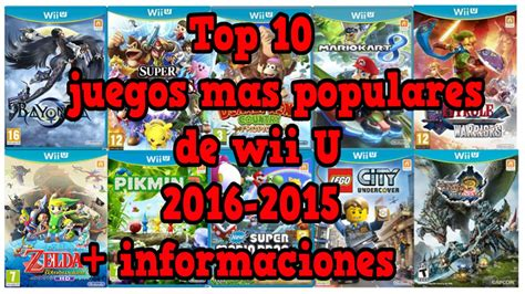 inscripcion de los juegos plurinacionales 2016 juegos top 10 los mejores juegos de wii u 2016 2015 youtube