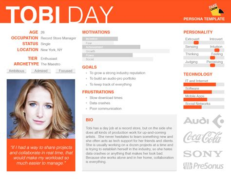 user persona template our free persona template