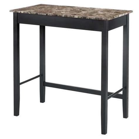 Marble Top Bistro Table Set Devyn 3 Faux Marble Top Pub Set In Black Da6711