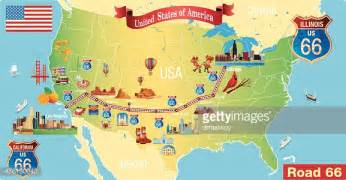 carte de la route 66 clipart vectoriel getty images