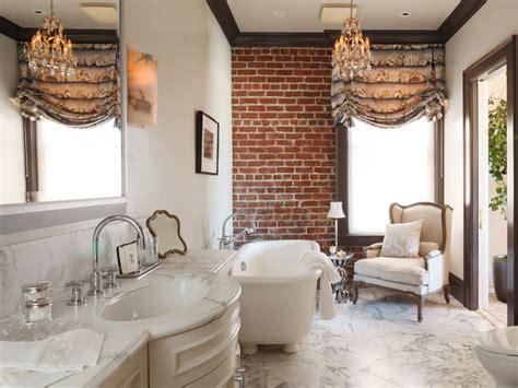 impressive bathroom designs  brick walls