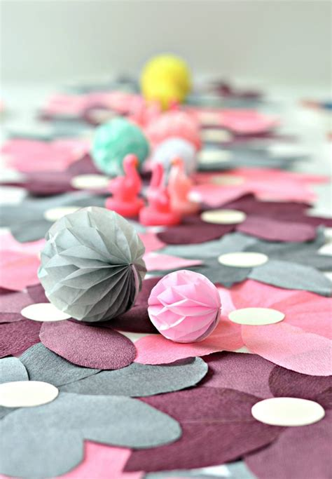 Paper Table Decorations To Make - flower power diy crepe paper table runner diy home