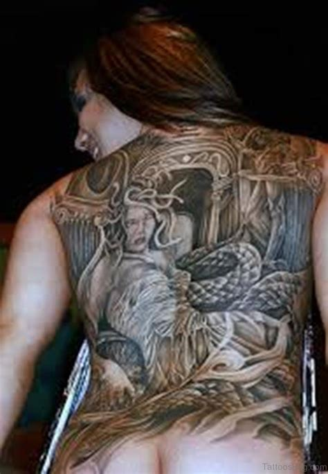 35 horror medusa tattoos for back