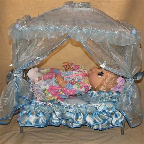 baby alive bed hasbro baby alive animated doll in canopy bed 2 flickr